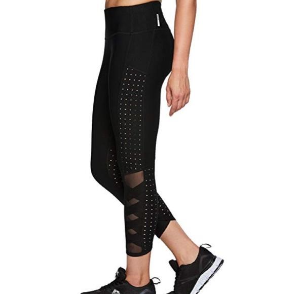 62b0237f29241 RBX Pants   Black X Strap Mesh Ankle Legging   Poshmark